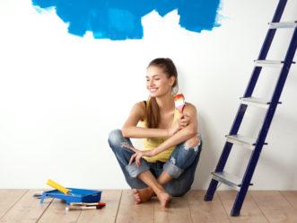 peindre un mur complet